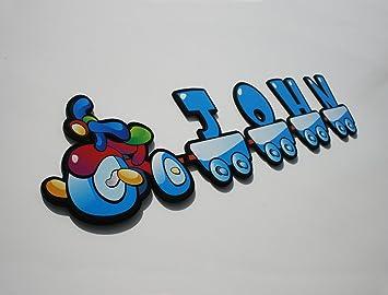 Kinder Dreirad Boy Buchstaben – Kinderzimmer Baby Zimmer Custom Name ...