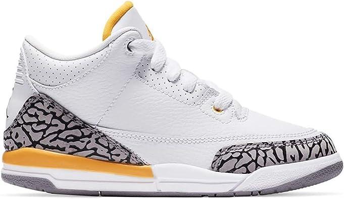 Amazon.com | Jordan Kid's Shoes Nike Air 3 Retro Laser Orange (PS ...