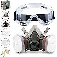 RHINO Smart Solutions Gezichtsbescherming (halfzijdig) anti-stof, herbruikbaar met bril, handschoenen, 6…
