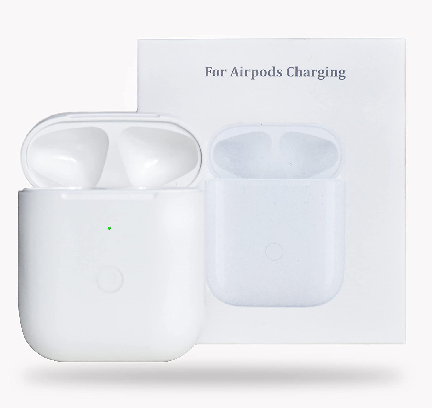 Airpods Wireless Charging Case Replacement Compatible with AirPods 1 & 2,Bluetooth Pairing Sync Button