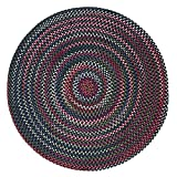 Chestnut Knoll Polypropylene Braided Round Rug, 8-Feet, Baltic Blue Review