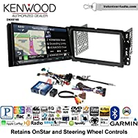 Volunteer Audio Kenwood DNX874S Double Din Radio Install Kit with GPS Navigation Apple CarPlay Android Auto Fits 2000-2005 Saturn S/L Series