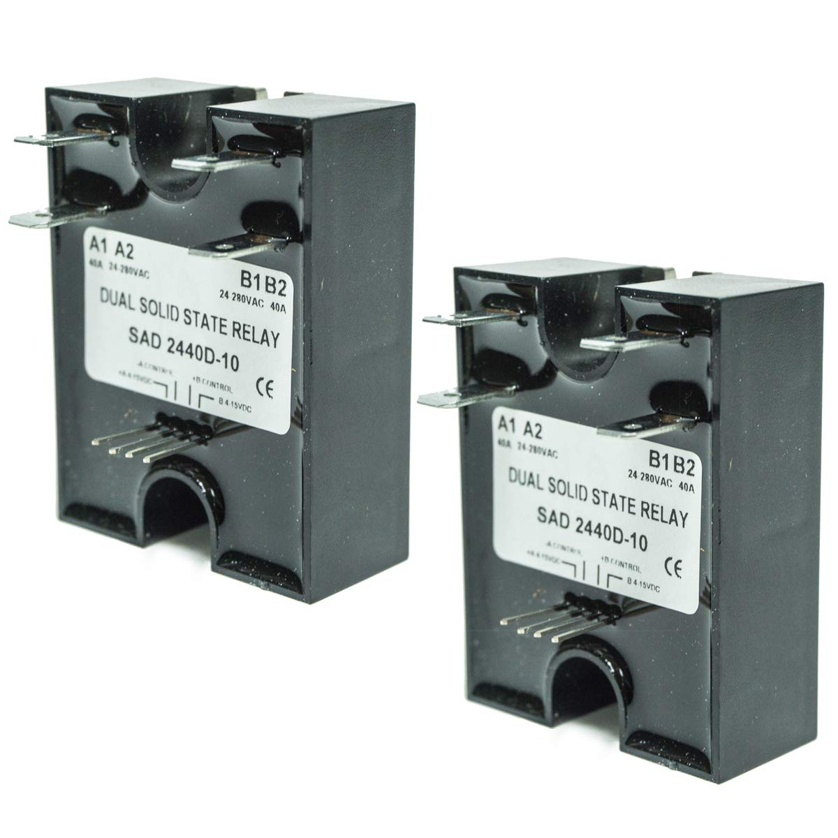 EPR 2PK Dual Solid-State Relay SSR 4-15VDC Input 280VAC 40A D2440D-10 Random Turn On by EPR