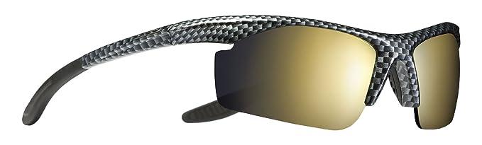 Trespass Adze Polarisierte Verspiegelte Gläser mit UV-Schutz und Stofftasche Sonnenbrille, Black/Print, One Size