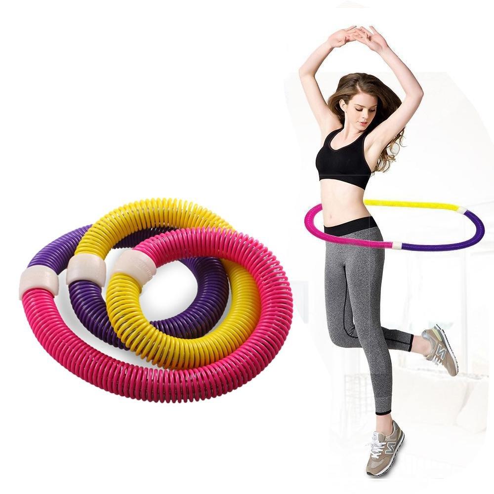 Weighted Hula Hoop, niceeshop(TM) Portable Flexible Exercise Soft Spring Fitness Hula Hoop