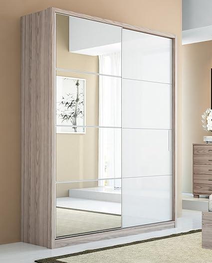 Amazon.com: Manhattan Comfort 4-Drawer Bellevue 2-Door Wardrobe with ...