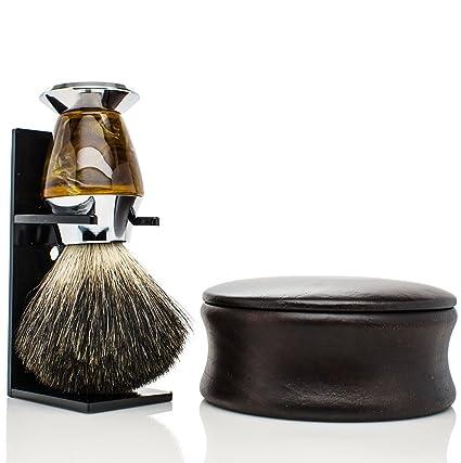 Maison Lambert Kit de afeitado para hombres con cuenco de afeitar de madera  y Brocha de 251013e0442f