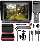 Neewer NW759 Camera Field Monitor Kit:7 inches Ultra HD 1280x800 IPS Screen Monitor,2600mAh F550 Replacement Battery,Micro USB Battery Charger, Carrying Case for Sony Canon Nikon Olympus Pentax DSLRs