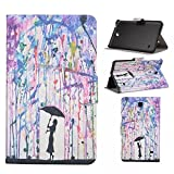 Galaxy Tab 4 8.0 T330 Case,UUcovers Cute Design Flip Stand Case [Auto Sleep/Wake Feature] Full Body Protective Cover for Samsung Galaxy Tab 4 8.0 SM-T330 (Dream lover)