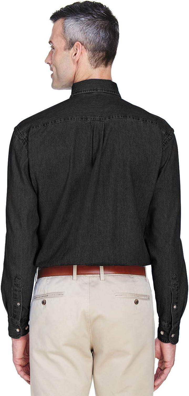 Harriton Mens Long Sleeve Denim Shirt