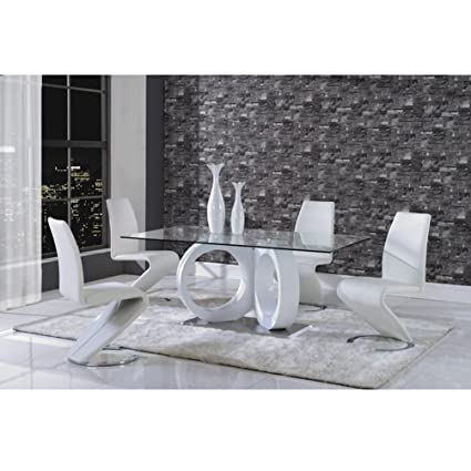 Amazon.com: Global Furniture Dining Table, White: Kitchen & Dining
