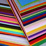 SOLEDI Felt Fabric Sheets Assorted Colors DIY Polyester 60 Pcs 12 x 12 Inch For Crafts Patchwork Sewing Squares
