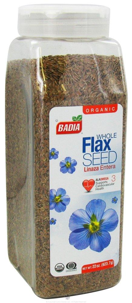 Badia Organic Flax Seed, Whole, 22-Ounce