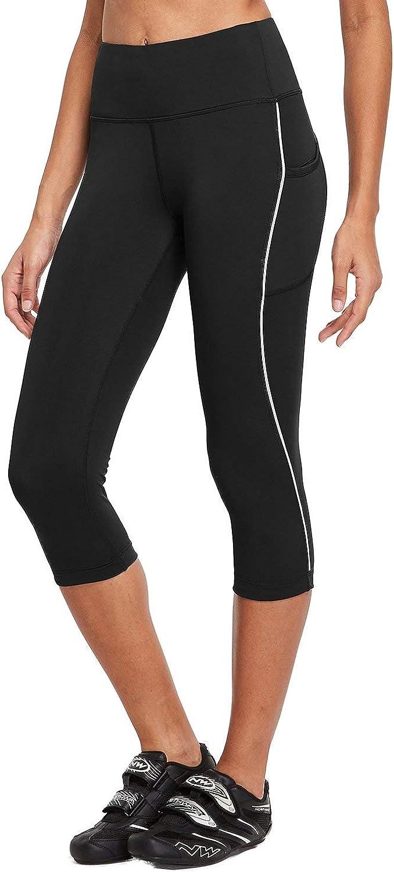 BALEAF Womens High Waist Cycling Capris Tights Compression Bicycle 3//4 Pants Pockets UPF50+