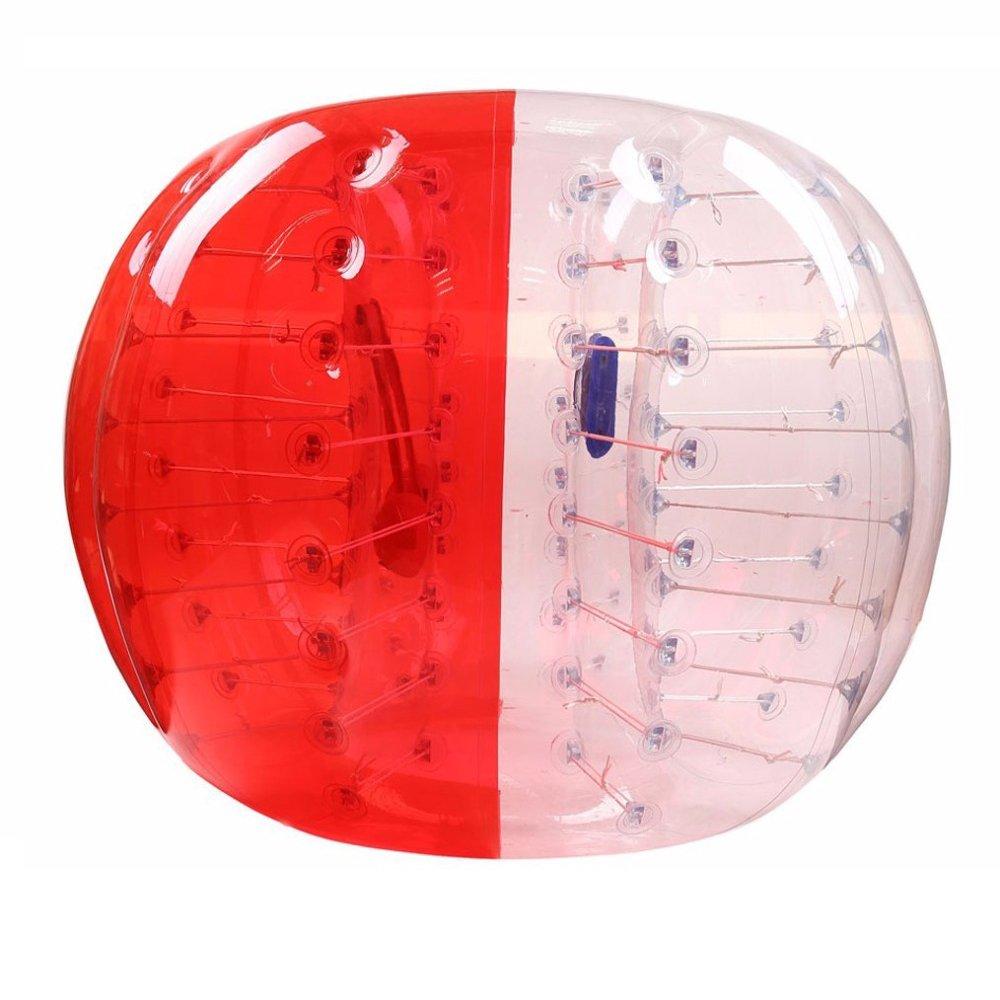 iMeshbean 1.2 M / 1.5 M PVCカラフルなインフレータブルバンパーボールHumanボディZorbingボールZorbバブルサッカー/フットボールの大人と子供アウトドアスポーツUSA B071CZDGG3Red & Transparent Mix 1.2 M 2 PCS