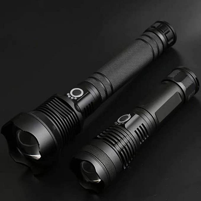 XHP70 LED TACTICAL TORCH FLASHLIGHT RECHARGEABLE 40000 lumens VISIBILITY />500M