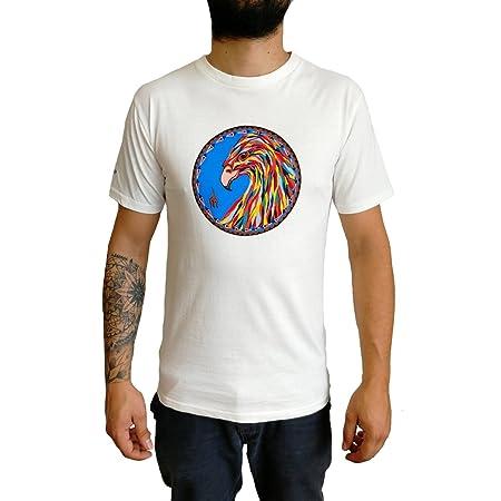 LE ORANGE MOON Camiseta Estampada para Hombre-Blanco - Algodón ...