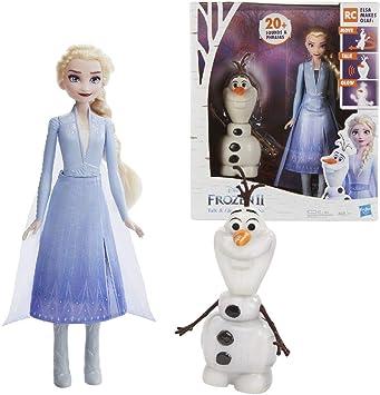 Amazon.es: Disney Frozen- 2 Olaf and Elsa, Multicolor (Hasbro ...