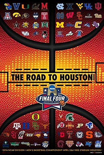 2016 Official Ncaa Final Four March Madness All Teams Basketball Print Poster