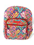 Vera Bradley Campus Backpack with Solid Color Interior (Updated Version) (Paisley in Paradise with Red Interiors)