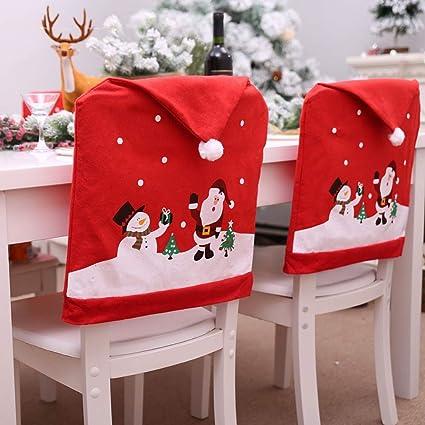 Christmas Chair Back Covers.Amazon Com Handfly Christmas Chair Back Cover Set Xmas