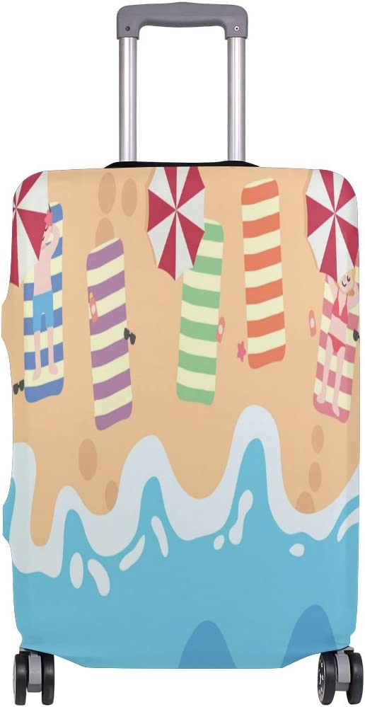 Luggage Protective Covers with Hawaii Beach Washable Travel Luggage Cover 18-32 Inch