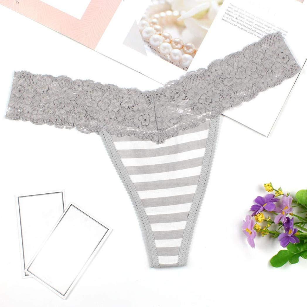 Tangas - para Mujer,Beikoard Mujeres Sexy Encaje Breves Franjas de Impresión Tangas G-String Iencería Ropa Interior (Gris, M): Amazon.es: Iluminación