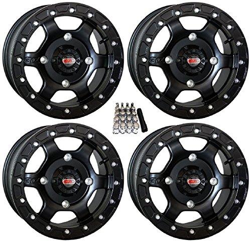 GMZ Casino Beadlock UTV Wheels Black 15x8/15x10 Kawasaki Teryx (Wheels Rims Casino)