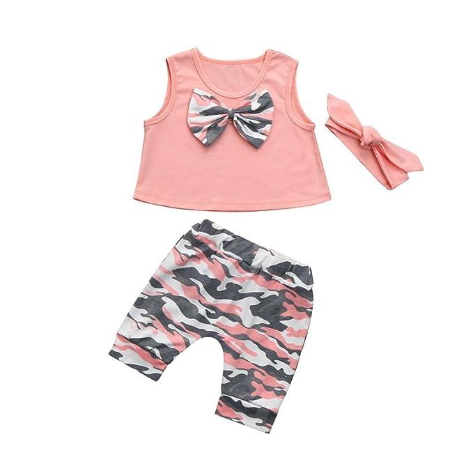 913faf162a1a2 BeautyTop Kleidung Set Mädchen Baby Mädchen Sommer Kleidung Set ...