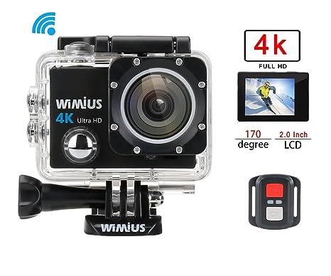 Mini Camera Subacquea : Wimius q action camera fotocamera subacquea k wifi full hd mp