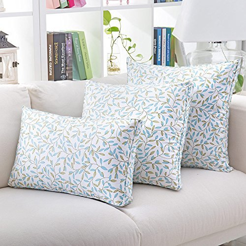 HOMEE Lovely Floral Sofas Pillow Cushion Kit Continental Car Back Lumbar Pillow Bed Pillow Floating Pane ,40X40Cm,12 Back Support,8,50x50cm