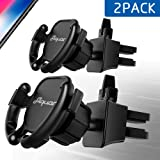 Alquar Car Phone Mount (2 Pack), [Upgraded] Air Vent Holder for Easier Navigation GPS,Never Fall Off Easy Installtion, Wire Holder Cable Clip for iPhone 7/7 Plus 8/8 Plus/X