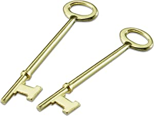 Lucky Line Skeleton Key for Lever Locks, Antique Doors & Locks, 2 Pack, Flat Tip (87002)
