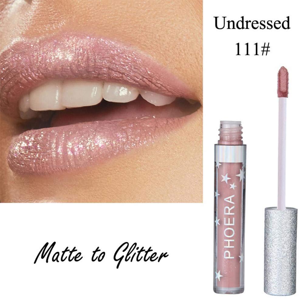 Alian - Maquillage Shiny Glitter Gloss Liquide - Ultra Brillant Rouge A Levre Longue Tenue Pas Cher pour Halloween/Toussaint Cosplay Sorcière Ange