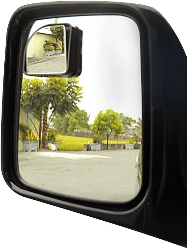 Auto Side Convex Mirror 360/° Rotate Car Blind Spot Mirror Small Round Glass Frameless Wide Angle Rearview Mirrors Stick on Sway Adjustable Car Accessories