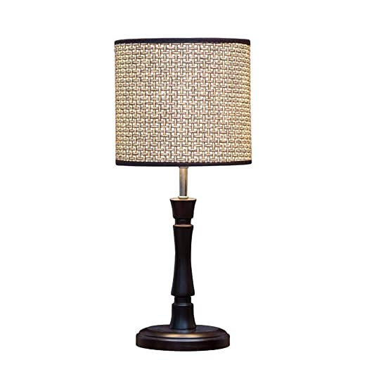 BeiMi Lámpara de Mesa Vintage - Cuerpo de lámpara de Madera ...
