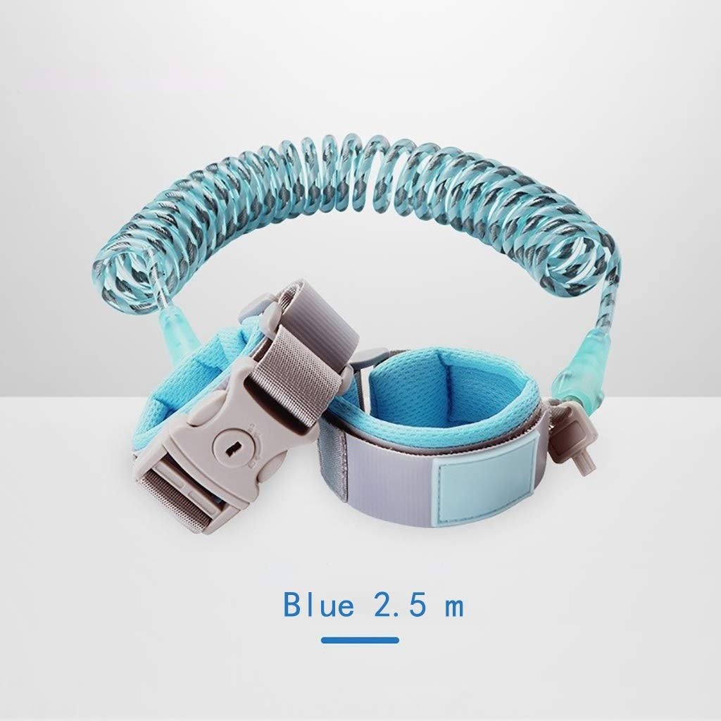 VIVIANE Child Anti-Lost with Traction Rope Lost Child Safety Bracelet Slip Baby Artifact Baby Anti-Lost Rope (Color : Blue)
