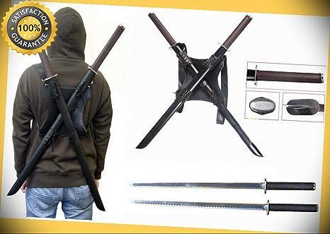 Amazon.com: Dos espadas tácticas KATANA para tortuga Ninja ...