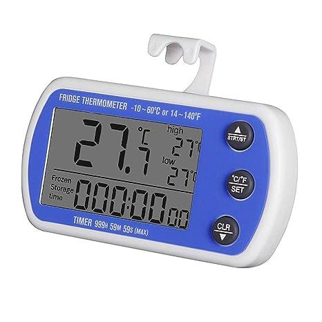 XLWDJ Termómetro para Refrigerador, Termómetro Mini Congelador A ...