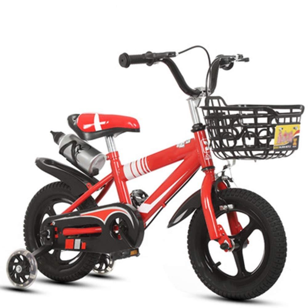 rouge 16in YUMEIGE Vélos Enfants Vélos pour Enfants en Acier à Haute teneur en voiturebone avec Roue d'entraîneHommest 12 14 16 18 20 Pouces pour garçons et Filles à vélo, adaptés aux Enfants de 2 à 11