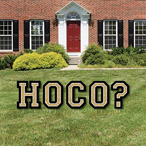Big Dot of Happiness HOCO Dance Proposal - Yard Sign Outdoor Lawn Decorations - Homecoming Proposal Yard Signs - HOCO