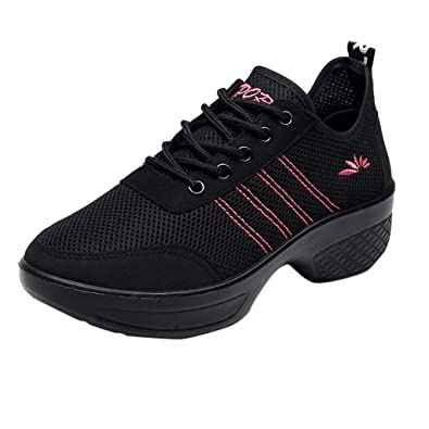 75cacbdee78726 Running Shoes -Women Casual Sports Air Trainers Jogging Fitness Shock  Absorbing Gym Athletic Shoes Student Mesh Breathable Sneakers Modern Jazz  Dance Shoes