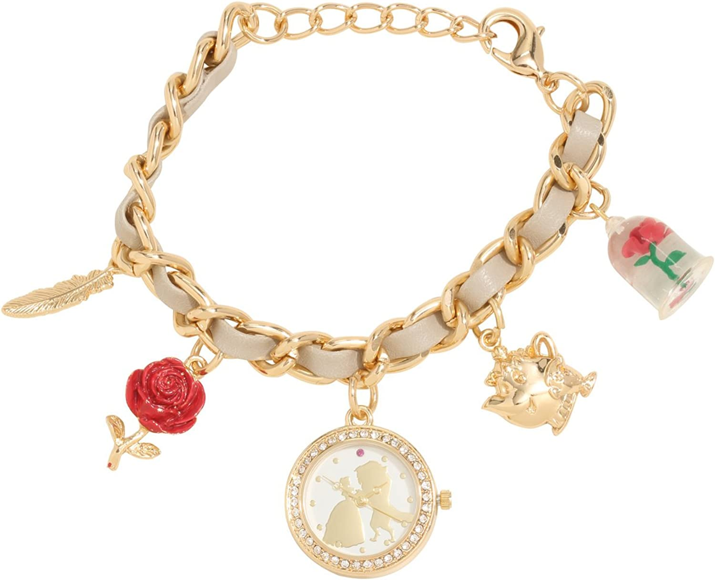 Amazon.com: Beauty and the Beast Disney Charm Bracelet Watch: Watches