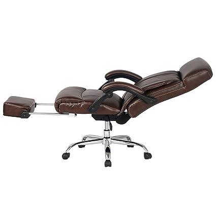 Amazon.com: VIVA OFFICE High Back Bonded Leather Recliner ...
