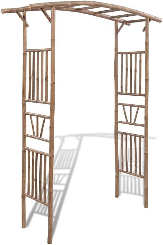 Tidyard Arco de Jardin para Plantas Arco de Bambú Arco para Rosas ...