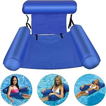 Bilisder Hamaca Flotante Inflable Hamaca de Agua Pool Lounge Float para Adultos y Niños el Partido de la Playa Piscina