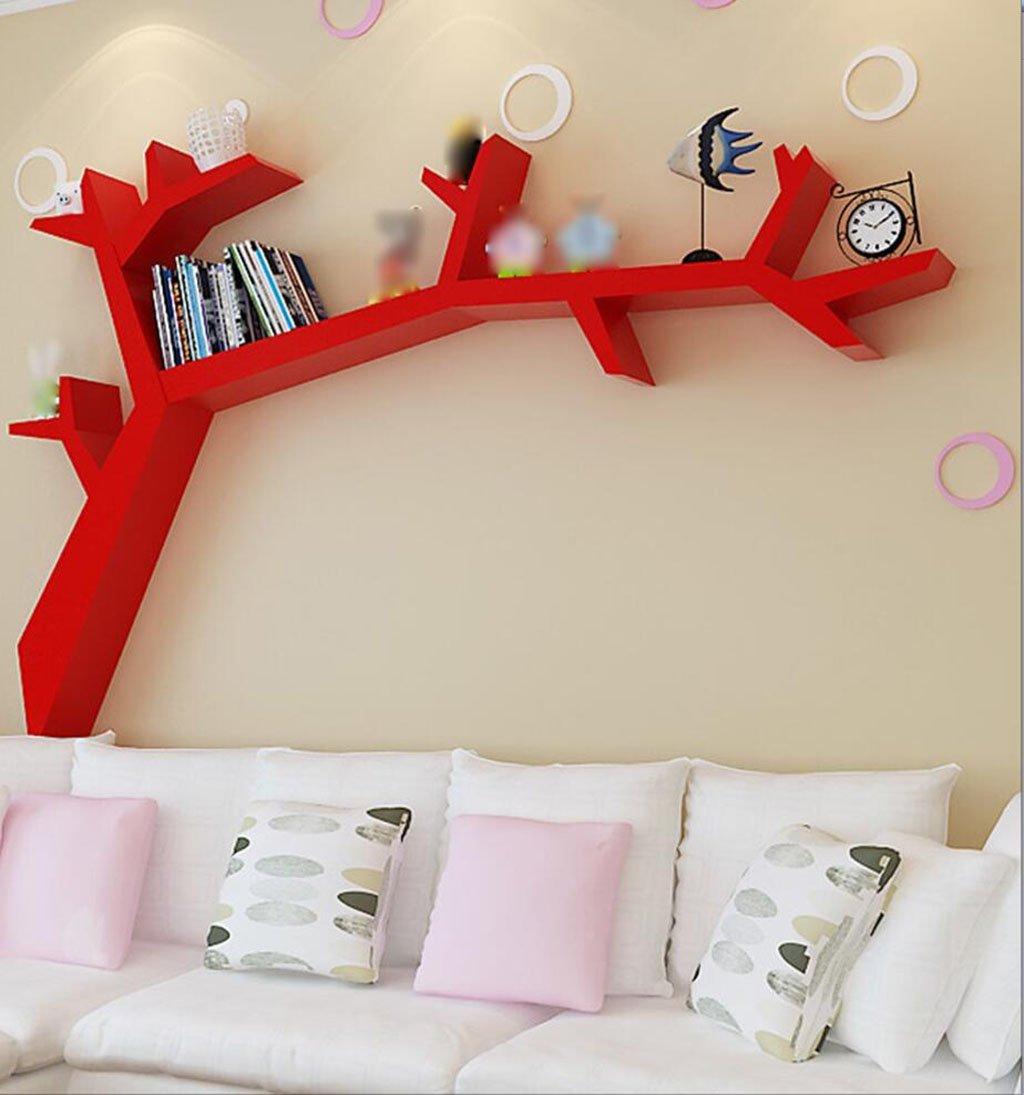 壁の本棚 クリエイティブツリーの棚、壁の棚、リビングルームの壁掛け、学習の本棚、格子の台座 花の棚 (色 : 3, サイズ さいず : L120*H90CM) B07CBTVG2C 3 L120*H90CM