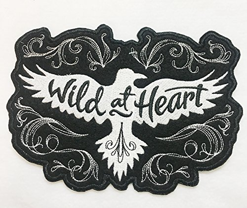 Wild at Heart Soaring Raven Handcrafted Embroidered Iron on Patch - 5 Sizes (Small 3.9 x 2.7 Inches)