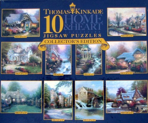 Thomas Kinkade 10 Home and Heart Jigsaw Puzzles