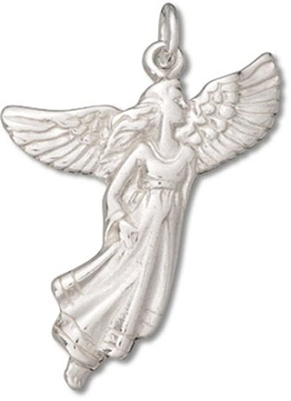 Sterling Silver Flying Guardian Angel Charm